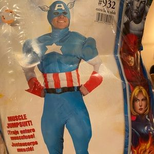 Captain America Costume Adult XL fits over clothes